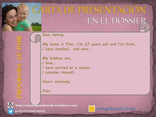 La CARTA DE PRESENTACIÓN forma parte del DOSSIER que tienes que presentar como candidata a Au-Pair. Aquí te damos algunas ideas.