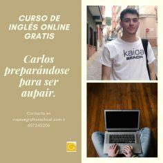Carlos preparándose para ser aupair en breve.